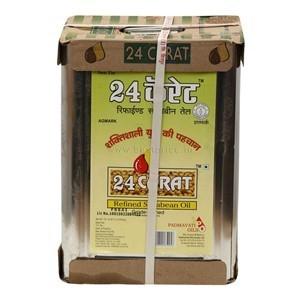 24 Carat Soya Oil Tin, 15 L